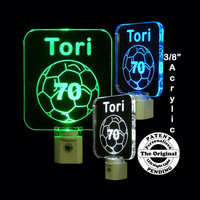Personalized LED Soccer Ball Night Light