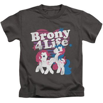My Little Pony Boys T-Shirt Brony 4 Life Charcoal Tee