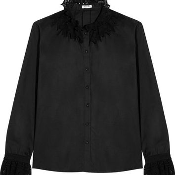 Vilshenko - Justyne lace-trimmed cotton shirt
