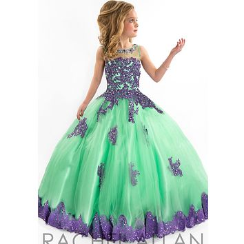 custom made 2017 Girls Pageant Dresses Ball Gown Blue Green Red Beaded Baby Little Tutu Flower Girls Dresses For Wedding