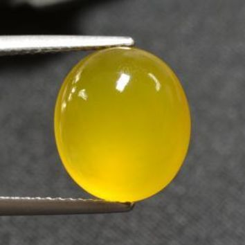 5.31 ct  Oval Cabochon Yellow Agate 12.5 x 11 mm