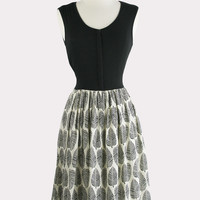 Aubrey Leaf Print Dress