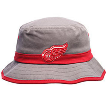 NHL Zephyr Detroit Red Wings Thunderhead NHL Wing Gray and Red Bucket Hat