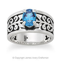 Adoree Ring with Blue Topaz from James Avery
