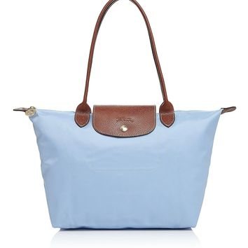NEW LONGCHAMP LE PLIAGE MEDIUM NYLON TOTE BAG 2605089 Light Blue Mist x