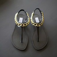 Hot Stuff Sandals- Black