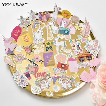 YPP CRAFT 45pcs Cute Unicorn Stickers for Scrapbooking Happy Planner/Card Making/Journaling Project