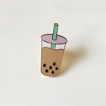 BACK IN STOCK - Boba milk tea lapel pin
