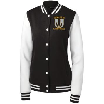 New VU LogoWear LST270 Sport-Tek Women's Fleece Letterman Jacket