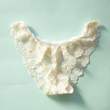 Lace Knickers in Buttermilk by Brighton Lace