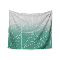 "Mareike Boehmer ""Simplicity"" Teal White Wall Tapestry"