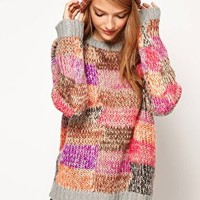 ASOS Jumper In Patchwork Knit at asos.com