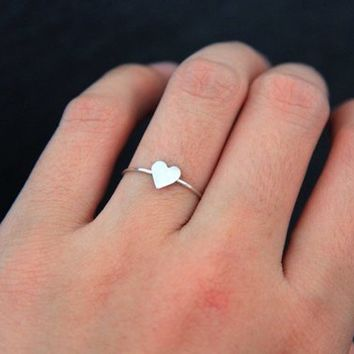 Silver Ring, 925 Sterling Silver Ring, Heart Ring, Heart Shaped Ring, Silver Jewelry, Cute Ring, Simple Ring, Silver Jewelry