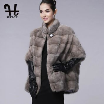 FURTALK brand Russian Winter Womens Real natural mink fur coat for women winter fur coats genuine mink fur vest hot sale