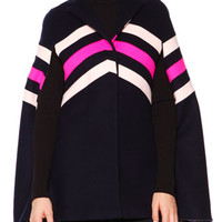 MSGM Chevron Printed Wool Cape