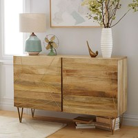 Roar + Rabbit Brass Geo Inlay 6-Drawer Dresser