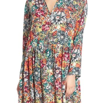 Hinge Floral Print Swing Dress | Nordstrom