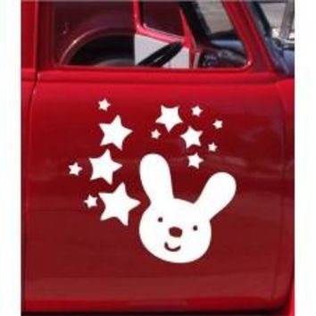 Stars and Rabbit Car Automobile Car Window Decal Tablet PC Sticker Automobile Window Wall Laptop Notebook Etc. Any Smooth Surface