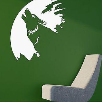 Vinyl Decal Wolf Animal Painter Art Coolest Room Decor Wall Sticker Unique Gift (ig2071)