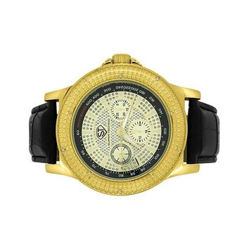 Tachymeter Gold Diamond Super Techno Watch