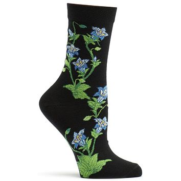 Apothecary Florals Gentian Sock