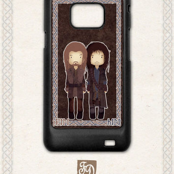 Samsung Galaxy S2 case cute Fili and Kili / the Hobbit