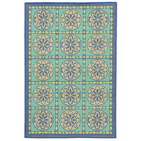 Outdoor Rug | Tile In Cool | Flat Woven
