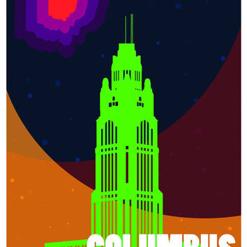 "Columbus Colorful Abstract Poster - 11"" x 17"""