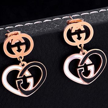 Free shipping-GUCCI new love double G female earrings