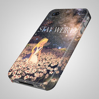Stay Weird Alice in Wonderland Galaxy - iPhone 4 4s 5 5s 5c Samsung Galaxy S2 S3 S4 S5 iPod 2 4 5 HTC One X Note 2 3 Blackberry Z10 Q10