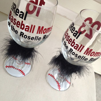 Baseball moms custom wine glass wine glass Grandma Personalized Team Wine Beer Mom Sister Friend Coach Gift