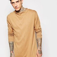 ASOS Jumper with Zip Back and Funnel Neck