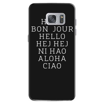 hello 7 languages hola bonjour ni hao chinese french italian Samsung Galaxy S7