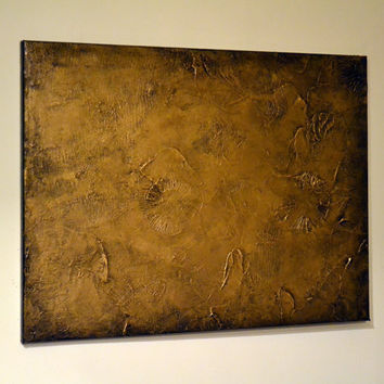 Original Art 18 x 24 Abstract Home Decor, Mixed Media, Modern Wall Art Texture Metallic Gold Painting, gift for mom