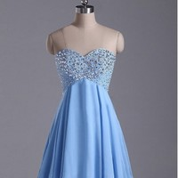 Charming sweetheart sequined rhinestones short prom dress / homecoming dresss [D0084] - $152.99 : 24inshop