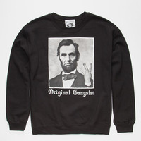 Riot Society Og Abe Lincoln Mens Sweatshirt Black  In Sizes