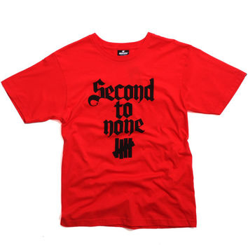 Second To None T-Shirt Red