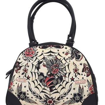 Liquor Brand Gypsy Queen Flash Tattoo Art Bowling Bag Purse Handbag