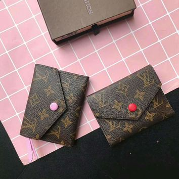 LV Women Leather Print Multicolor Wallet Purse B-AGG-CZDL