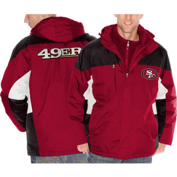 San Francisco 49ers Lombardi Three-In-One Jacket - Scarlet