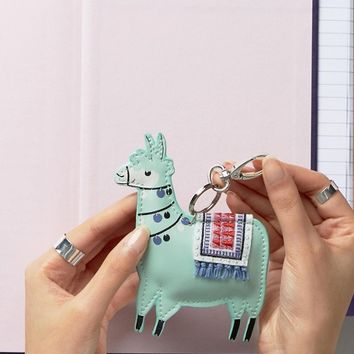 Paperchase Llama Shaped Keyring at asos.com