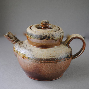 Clay Teapot Wood Fired by JohnMcCoyPottery on Etsy