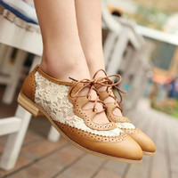 Lace shoes casual shoes from psiloveyoumoreboutique
