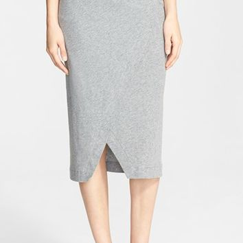 Women's Enza Costa Cotton & Cashmere Jersey Midi Skirt,