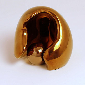 Sculpture, Ceramic, Abstract MOTHER AND CHILD gold Ltd ed. 75