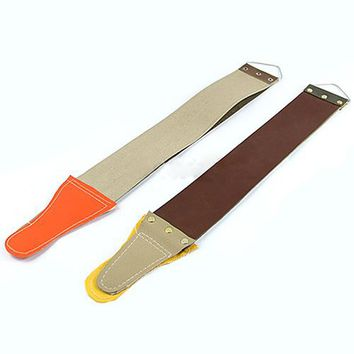 2015 New Style 2015 Hot Leather Sharpening Canvas Strop Barber Open Straight Razor Sharpening Shave 8C7M