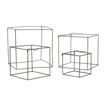 Wire Cube Sculpture Set