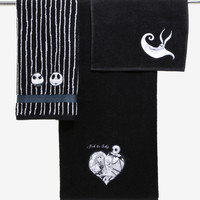 The Nightmare Before Christmas 3-Piece Black Bath Towel Set