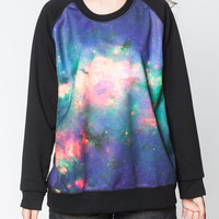 Galaxy Sweater Shirts Sky Pink Blue Pastel Cosmic Black Long Sleeved Women T-Shirt Sweatshirt Unisex Tee Jumper Size M L