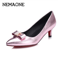 Size 34-40 New Spring Fashion rhinestone Flock Party Shoes Sexy Pointed Toe Women Pumps OL High Heels Shoes Woman